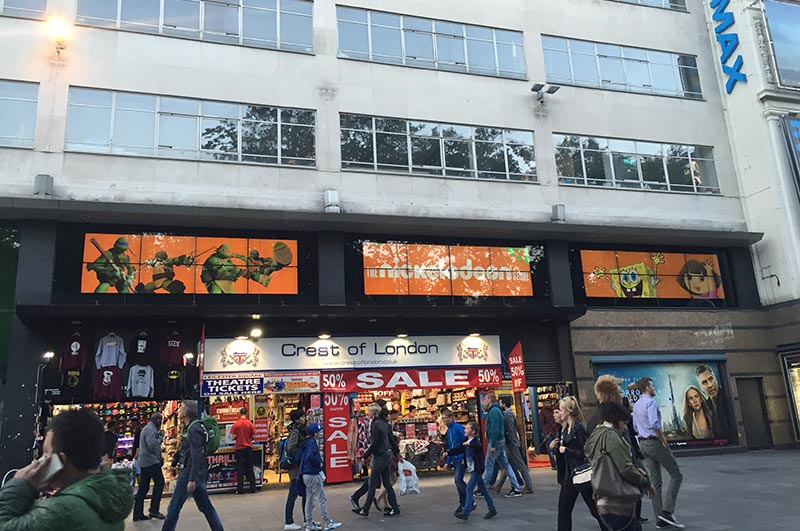 Nickelodeon London Video Wall - PAI